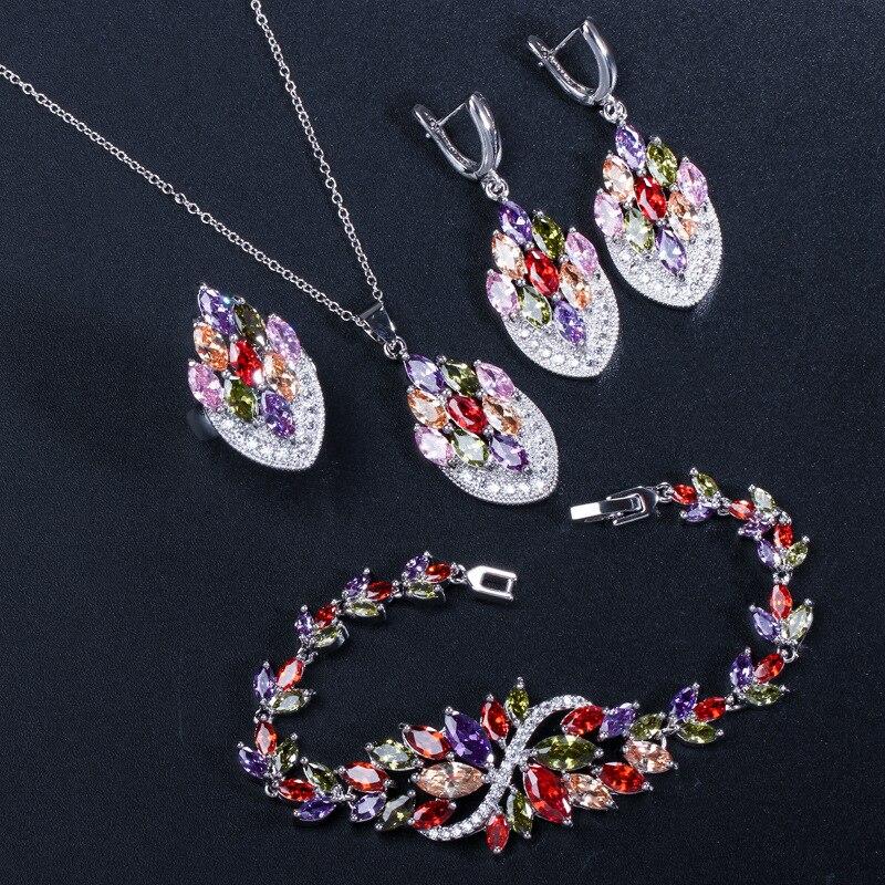 Ensembles de bijoux multicolores pour femmes