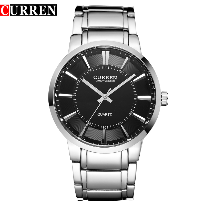 curren famous watches quart watch design sport steel clock top quality military font b men b