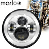 Marloo DOT 7inch Daymaker LED Headlight Projector For Harley Ultra Classic Electra Glide Street Glide Fat