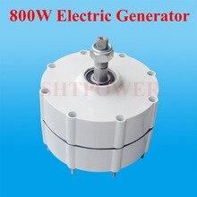 800W 500r/m sabit mıknatıslı jeneratör AC alternatör dikey rüzgar jeneratörü rüzgar türbini jeneratör 24V 48v