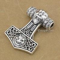 925 Sterling Silver Thor's Hammer Mens Biker Rocker Punk Pendant 9S027 Just Pendant