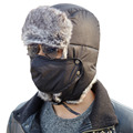 Unisex Russian Bomber Trooper Hat for Men Women faux Fur Winter Trapper Hunting  Cap