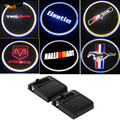 LED Door Warning Light Logo Projector For Audi Sline Volkswagen VW Beetle Toyota TRD Dodge Mitsubishi Ford Mustang Volvo Peugeot