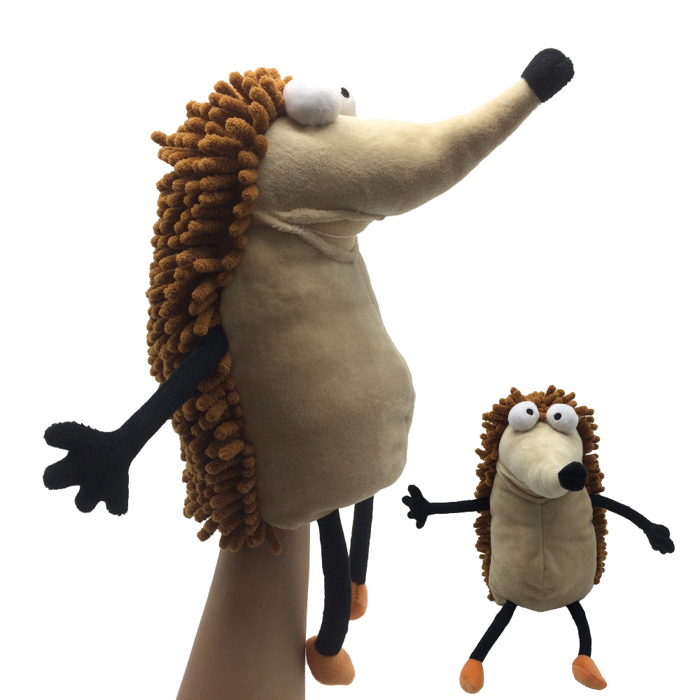 Kids Toys Animals Plush Hand Puppets Hedgehog Soft Toy Story Toys Pretend Playing Dolls Gift for Children Stuffed & Plush Doll panda plush doll toys simulation stuffed animals toy children gift take the bamboo pandas