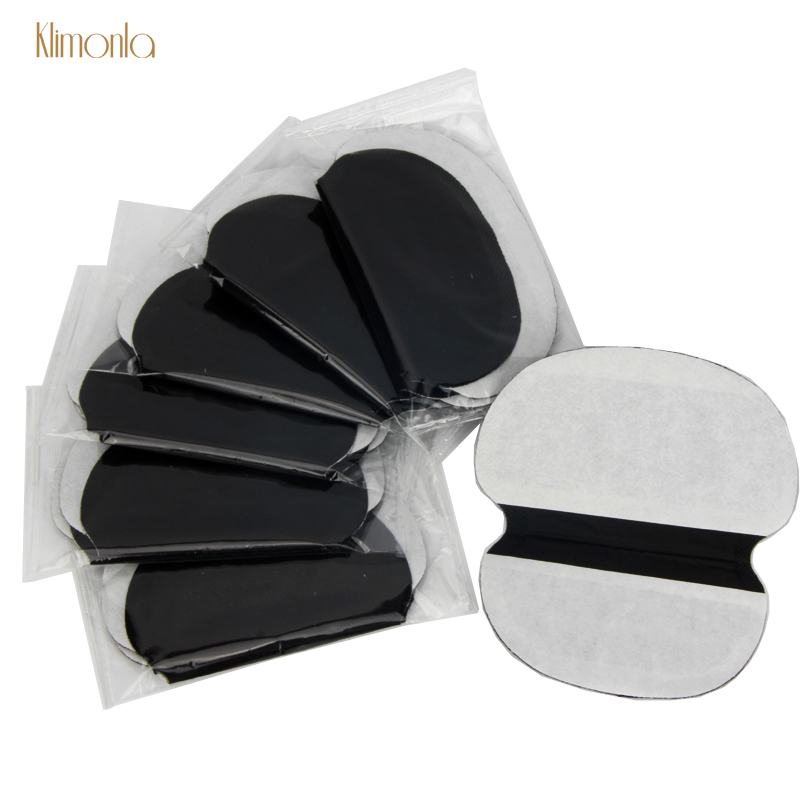 30Pcs Disposable Black Sweat Pads Non-woven Fabrics Invisible Armpit Absorb Sweat Clothing Shield Summer Men Women Deodorants