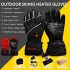 Guantes de esquí de invierno con batería eléctrica de calor SHGS15, guantes de pesca de esquí de invierno, guantes de cuero de 3 niveles para hombres y mujeres DHL