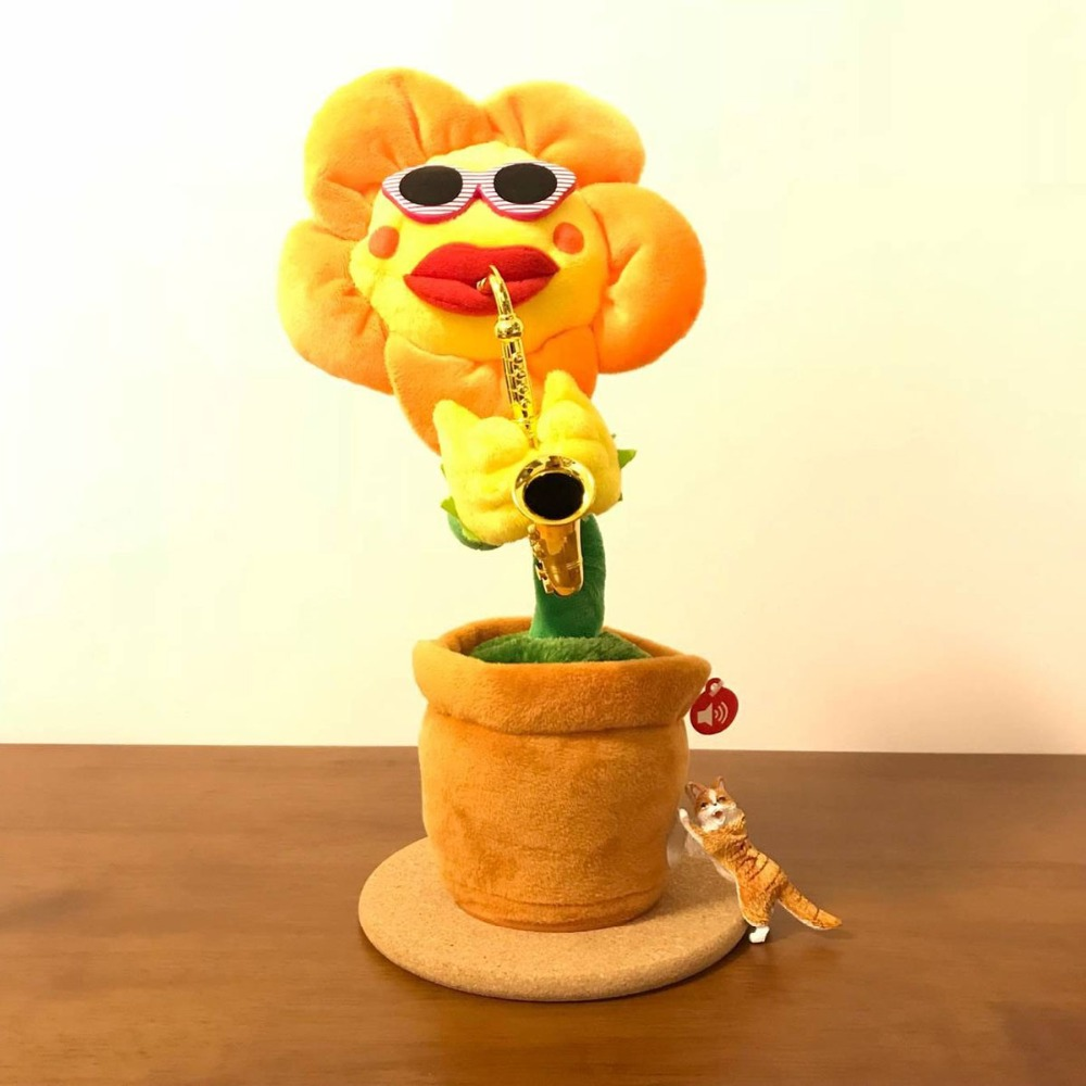 funny toy musical instruments electric plush enchanting flower dancing pot flowers toy music dancing singing simulation