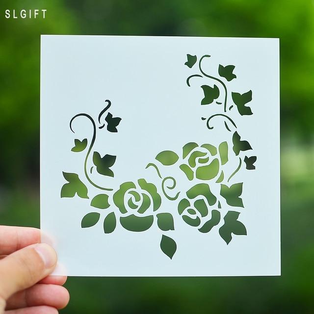 Fleur bricolage artisanat superposition pochoir pour for Pochoir pour peinture