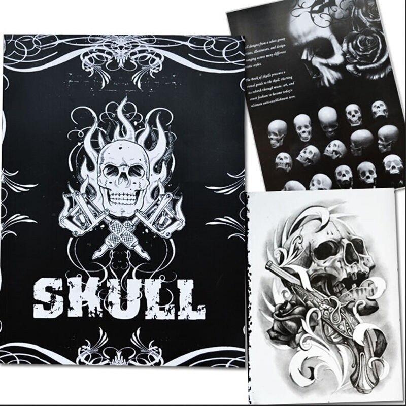 76 páginas A4 libro del tatuaje negro sexy Skull diseño Sketch Book ...