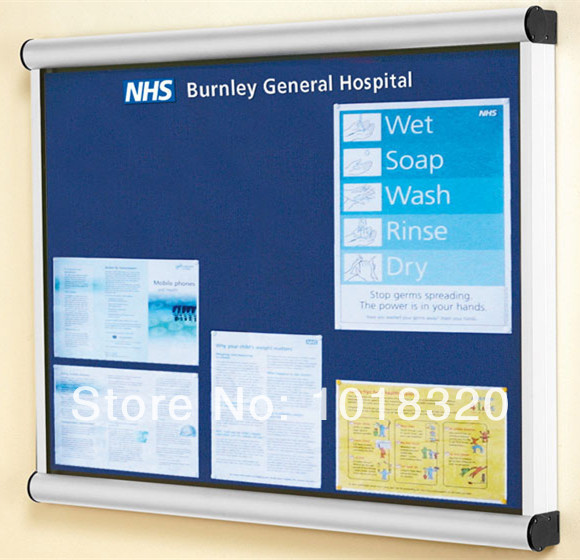 Wall Mounted Glass Notice Board Price