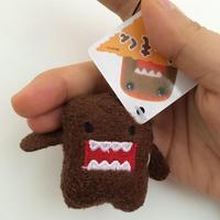 50 unids/set DOMO KUN peluche 5 cm mini encanto del teléfono bolsas llaveros colgante Domokun cordón de la muñeca de kawaii Domo-kun juguetes venta al por mayor