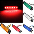 2pcs 24V 6 SMD LED Auto Car Bus Truck Trailer Lorry Side Marker Indicator Light Side Lamp Red Blue Yellow Green Car Light Sourse