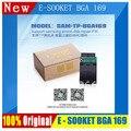 100% original E-CAIXA COMPANHEIRO E-SOCKET SAM TP BGA169 com JTAG RIFF CAIXA ATF EMMC BOX ORT BOX Suporte reparação SAM emmc chips fw trabalho