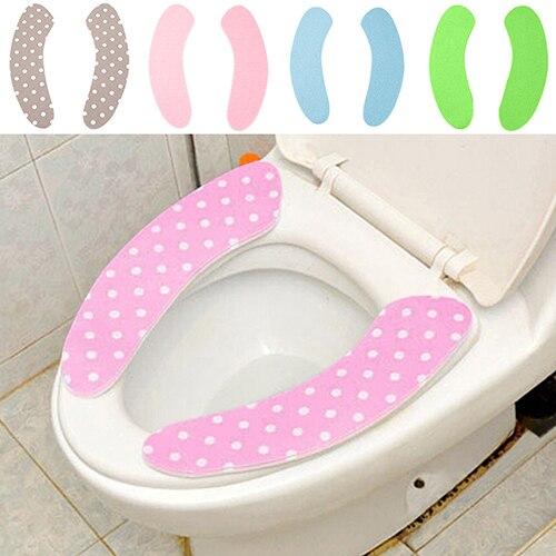 Новая горячая Распродажа одна пара волшебный клей Ванная комната туалет Closestool теплые моющиеся мягкие сиденья Обложка колодки 7uk a743