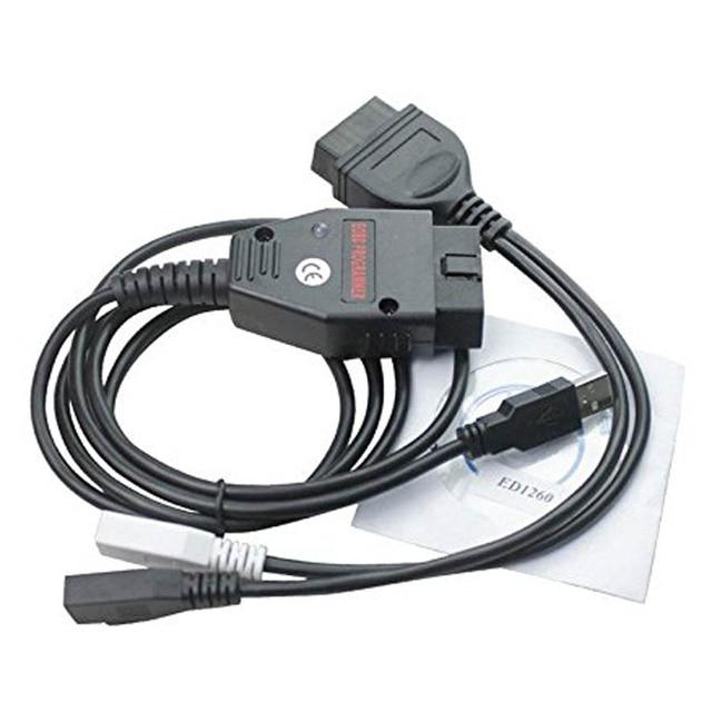 Barato Galletto 1260 con Chip ECU de interfaz EOBD Tuning herramientas caliente Galletto Ecu flasher v.1260 USB de diagnóstico del coche OBD2 Cable