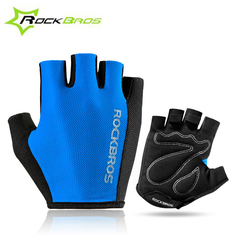 ROCKBROS Half Finger Bicycle Glove Outdoor Cycling Sports Breathable Gloves Bike Sponge Pad Professional Gloves Unisex RK0038 fashion casual children watches analog quartz watch waterproof jelly kids clock boys girls hours students wristwatch