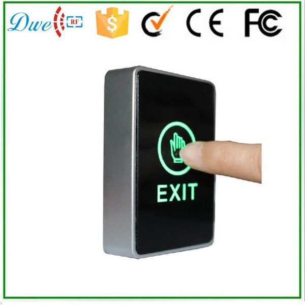 цена на DWE CC RF two color LED light Infrared Access Control touch exit button no nc push button switch