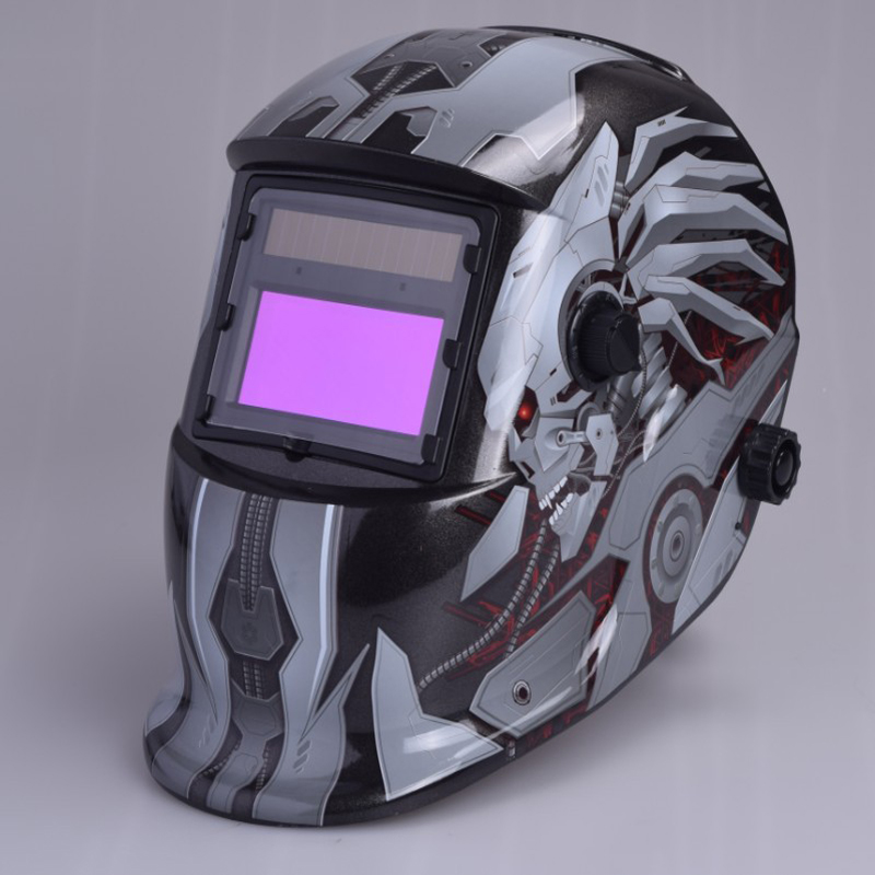 ФОТО New Head-Mounted LCD Welding Protection Mask Solar Automatic Variable Light Welder Cap Gas Welding Helmet Soldering Tools