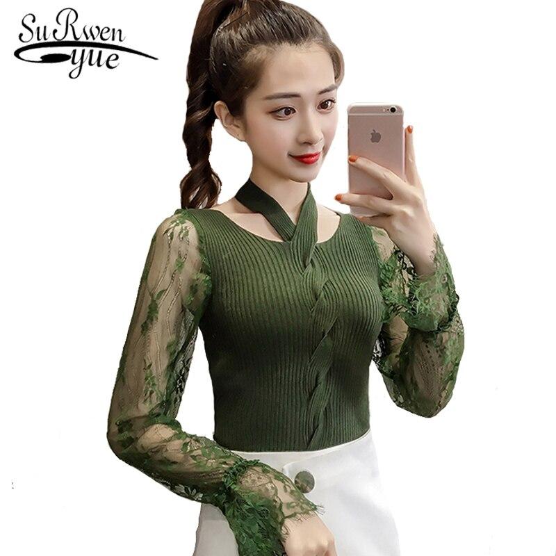 модные женские свитера 2019 весна Flare с длинными рукавами пуловеры