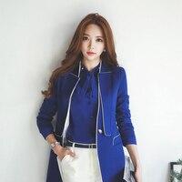 Slim Coat Women Suit Blazer Solid Jacket Sleeve Length Quality Blazer Fashion Women Clothing Chaqueta Mujer