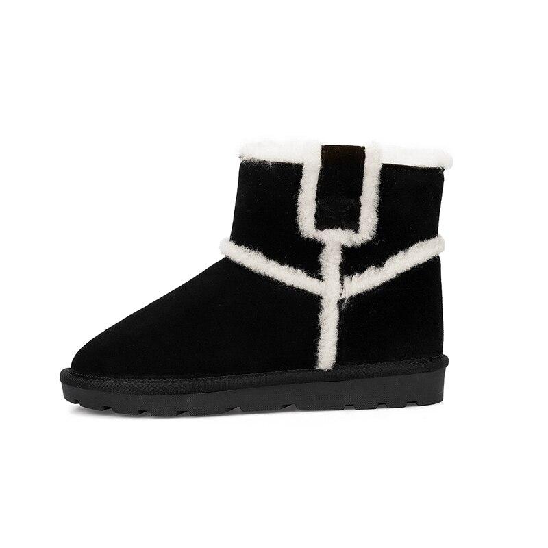 Tailles Bottines Black Femmes 34 Rond Causal Chaud Neige Solide Talons Des Hiver Chaussures Med Dame Enmayer 40 Cr1851 brown Tendance Bottes Bout De J1uTFc35lK