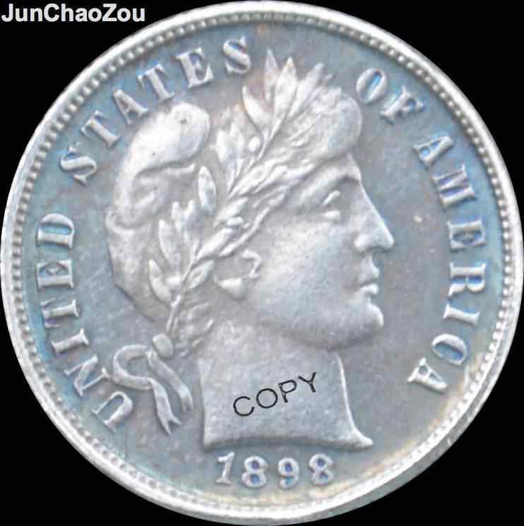 الولايات المتحدة الأمريكية 1898 قطعة معدنية واحدة مطلية بالنيكل مطلية بالنيكل