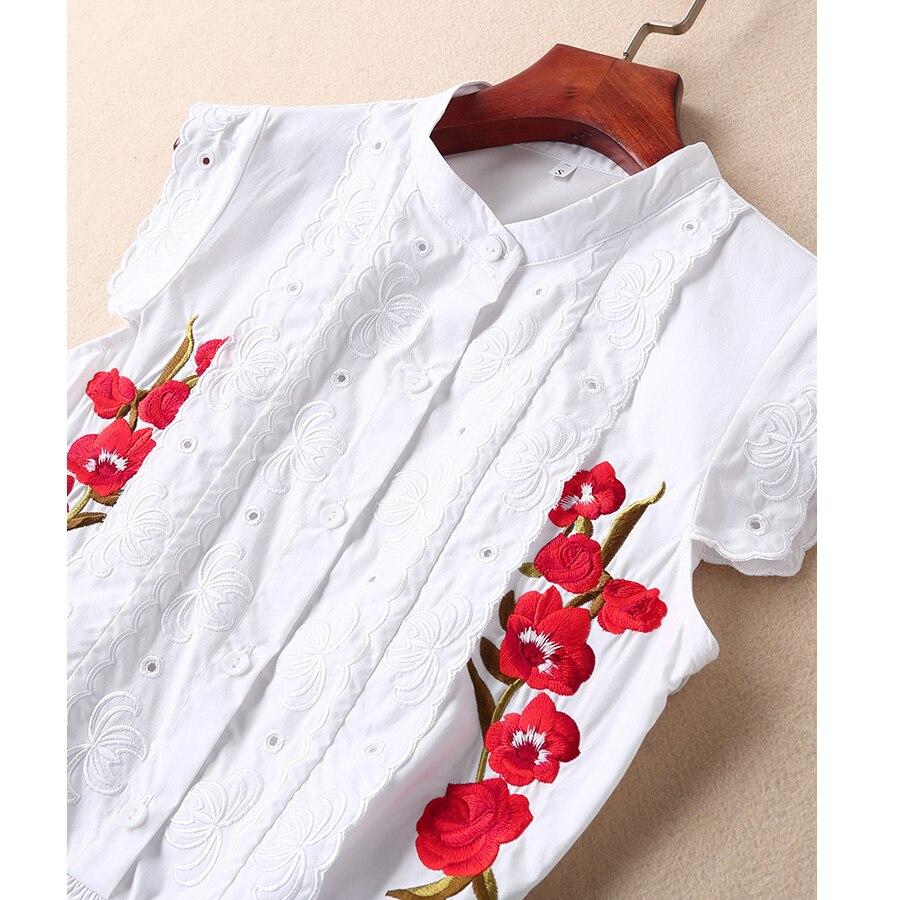 2019 Été Broderie Supérieure Design Blanc Évider Nouveau Robe Qualité Coton De Mode Seqinyy Fleurs Pour A ligne Femmes Rouges 1tEqwAnfx