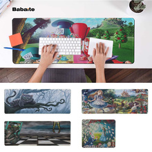 Babaite Hot Sales alice in wonderland  Office Mice Gamer Soft Mouse Pad Free Shipping Large Keyboards Mat