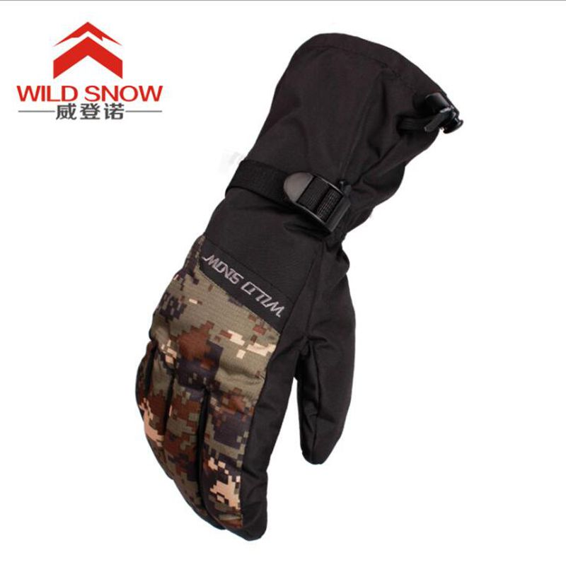 Hot!Waterproof Ski Gloves Men Women Warm Skiing Snowboard Gloves Snowmobile Motorcycle Riding Winter Outdoor Snow Gloves