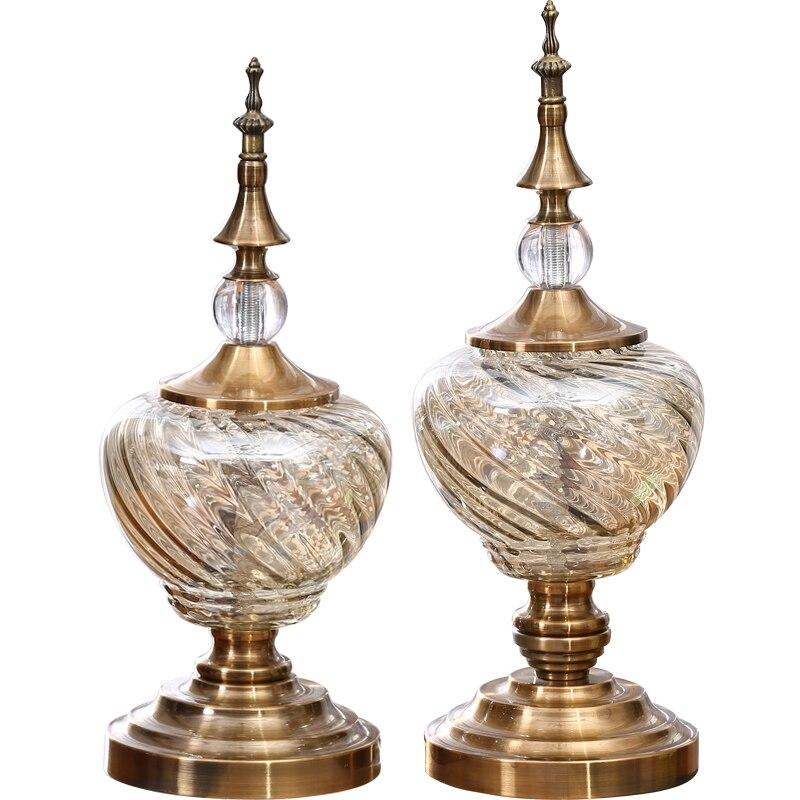 Стекло мебели Европейский стиль аксессуары для дома Современная Гостиная вино Стекло украшения дома творческие украшения