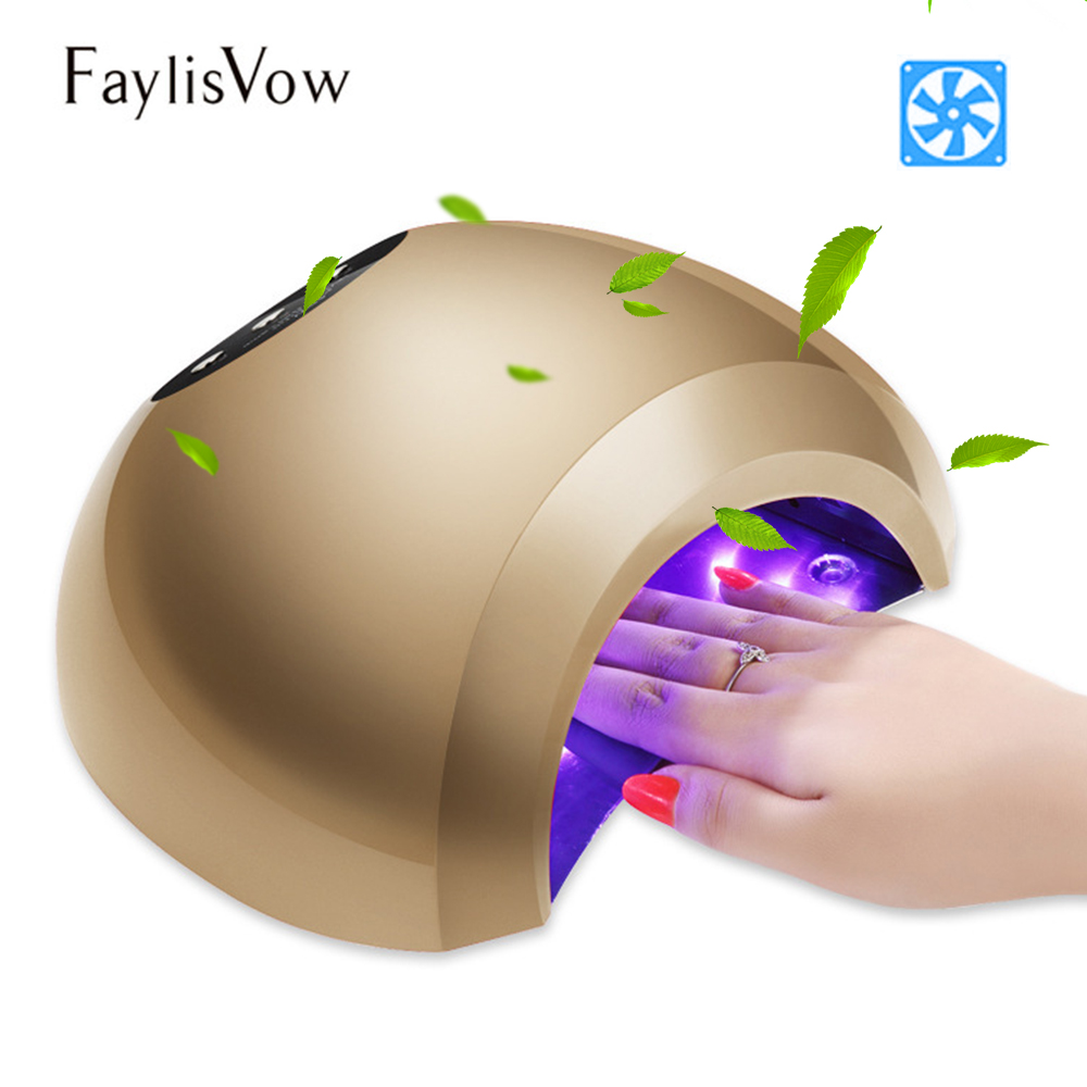 48W UV LED Lamp for Nails Low Heat with Cooling Fan Gel Polish Curing Light 10s/30s/60s Timer Manicure Tools Nail Dryer noq smart sensor nail lamp with battery 48w uv led nail light dryer for curing all type gel polish with timer button 10s 30s 60s