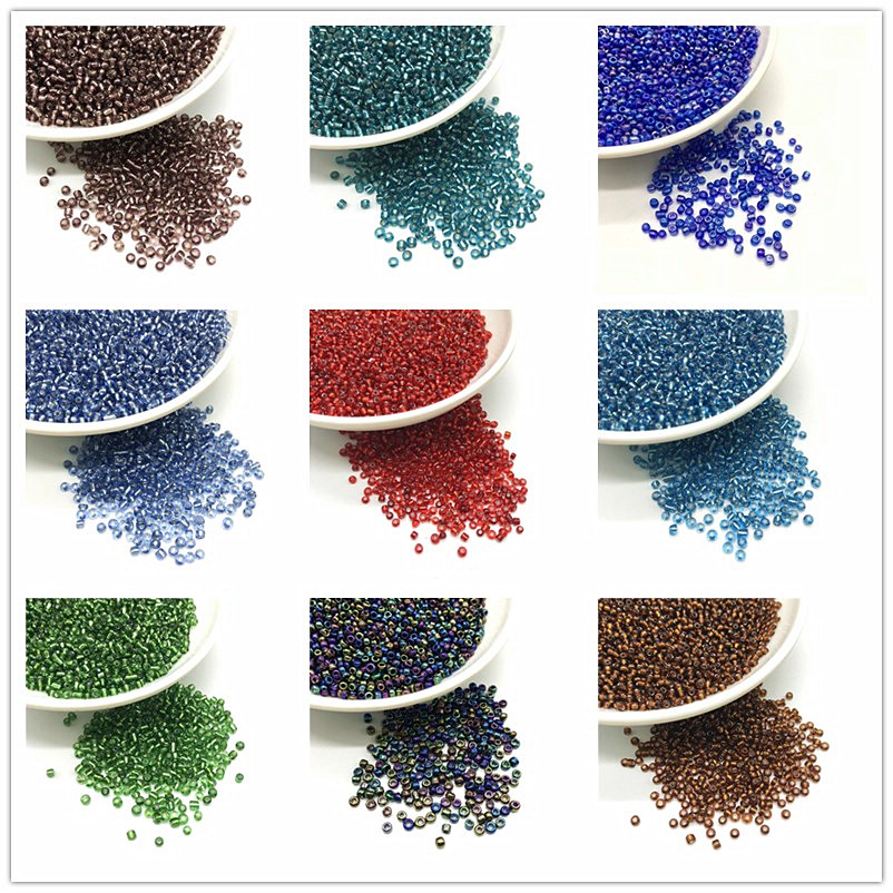 1000Pcs Mixed Round Czech Glass Seed Loose Spacer Beads Jewelry Making 2mm DIY