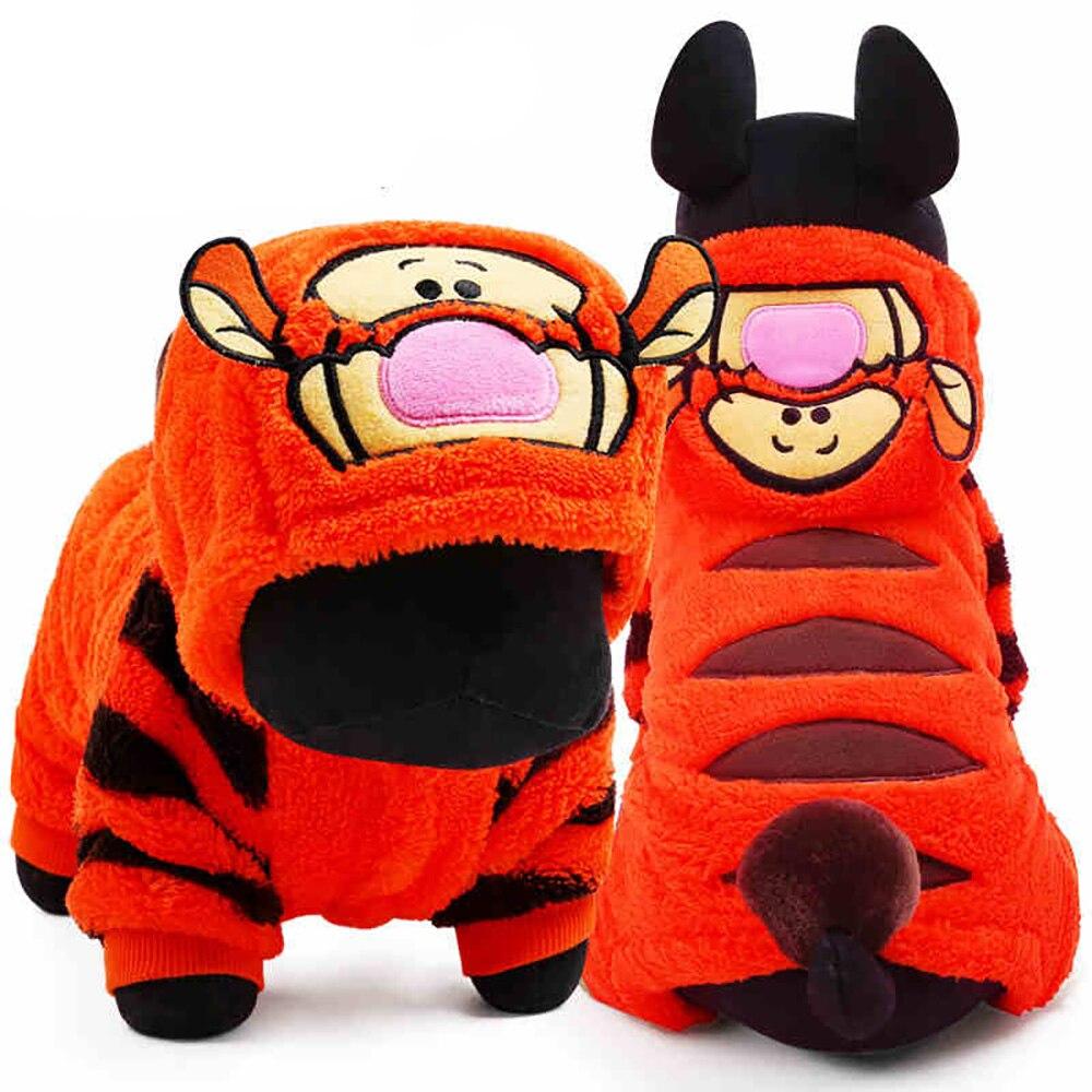 Autumn And Winter Dog Clothes Tiger Dog Costumes Hoodies Coat Size XXS XS S M L Pet Apparel