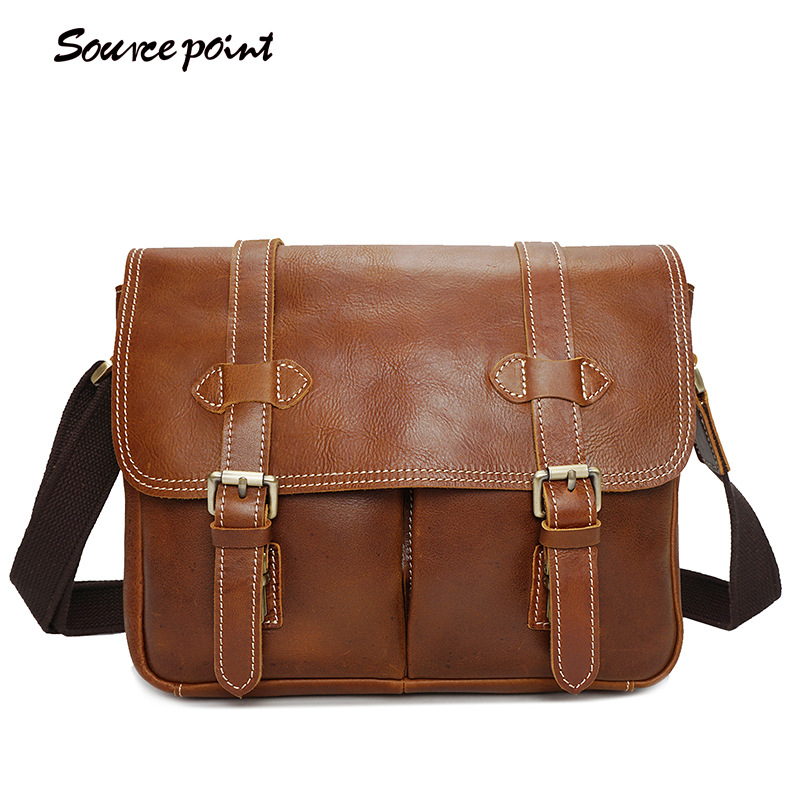 SOURCE POINT Hot Sale Genuine Leather Camera bag Case Multifunction Fashion Oil Wax Leather Shoulder Messenger Bags YD-8101# сумка для ноутбука wy a023 point breaker messenger bag синяя