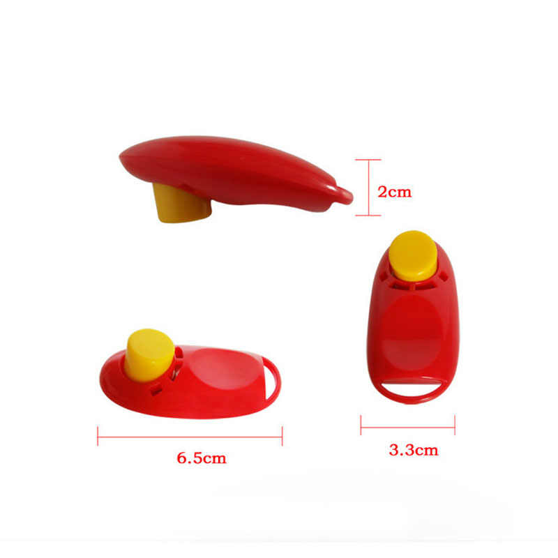 New Hot Sale Pet Dog Training Clickers Big Button Clicker With Wrist Band  Click Train Pet Dog Trainings Whistles Pet Tool DA