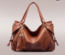 fashion Genuine Leather women handbag cowhide tassel female bag hand-held shoulder aslant package