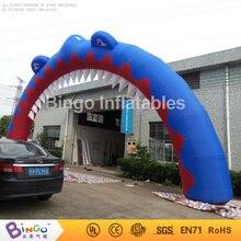 Бесплатная доставка 14 м шириной 6 м Высокое Надувные Акула арки цифровой печати раздутие гигантские арки для вечерние игрушки