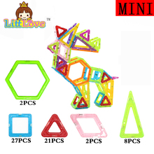 LittLove 60 PCs Mini Size Deer Magnetic Building Blocks font b Toys b font Models Magnetic