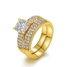 2 шт свадебные кольца с золотым покрытием