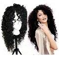 Высокая плотность синтетические парики kinky вьющиеся полное кружева парики для черный женщин из жаропрочного синтетического кружева перед парики с ребенком волос
