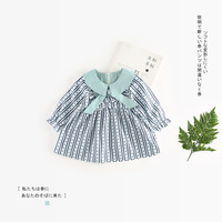 New Arrive Baby Dress Girls Clothes Striped Bow Tie Dress Cute Clothes NZ604