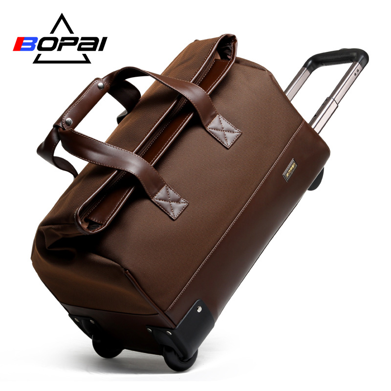 BOPAI 2016 Men Travel Bags 20 Inch Large Capacity Women Trolley Bags Travel Duffle Bag Waterproof Rolling Luggage Carry On Bag недорго, оригинальная цена