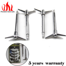 4 PCS Chrome Valve Rocker Cover Hold Down Wing Nuts Bolts Studs For Ford Chevy V8