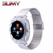 Viscoso X3 Bluetooth Inteligente Relógio de Pulso Do Esporte Pedômetro com Câmera SIM Smartwatch Para Android Smartphone Relógio De Pulseira de Metal