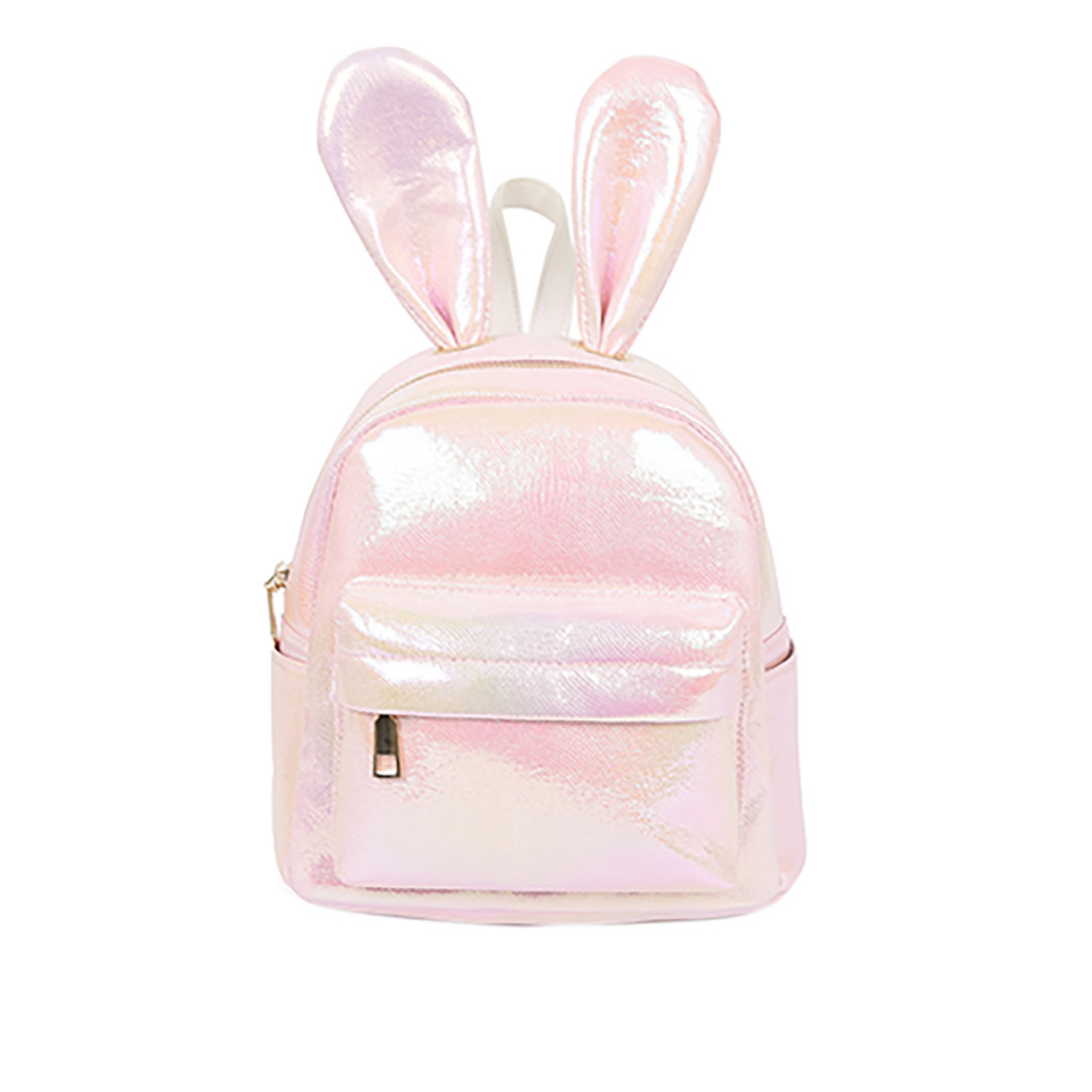 Backpack Women's Fashion Sequins Radium Cute Rabbit Ear Backpack Bags For Women School Bags For Teenage Girls dropshipping 621W(China)