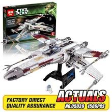 NEW Lepin 05039 Genuine Star War Series UCS The X-wing Rebel Red Five X-wing Starfighter Set Building Blocks Bricks Toys 10240