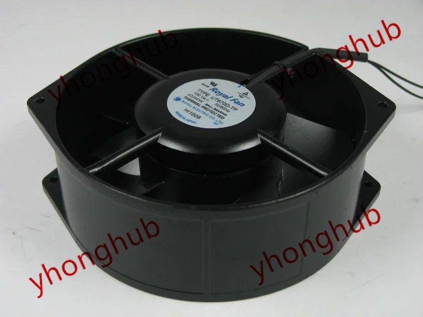 Free Shipping For Royal Fan UT670D-TP AC 100V 43/40W 2-wire Server Round fan royal fan ut626dg tp 16cm220v 5w inverter cooling fan