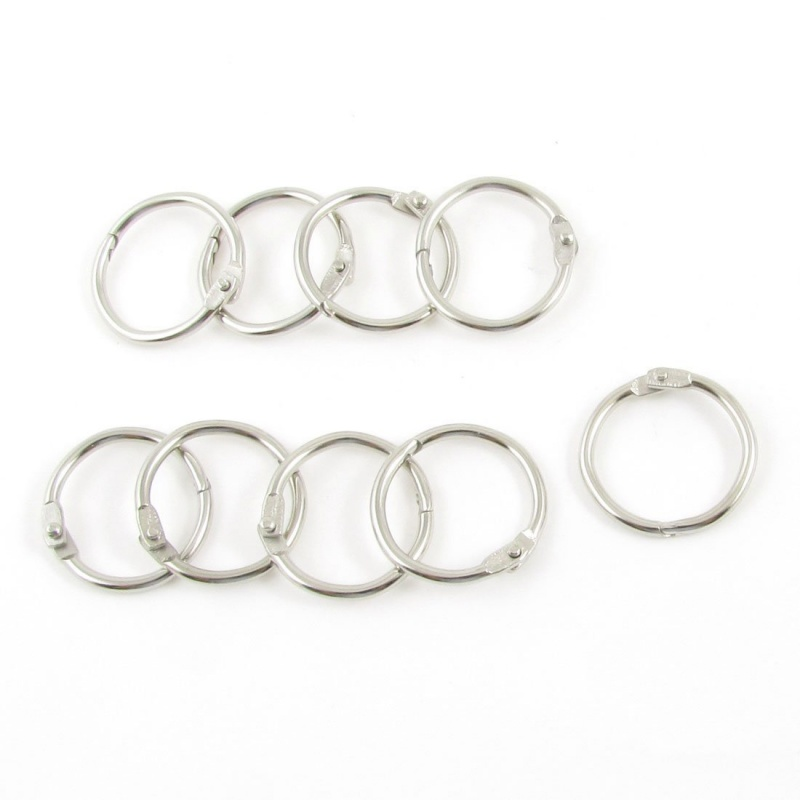 9 X Hinge Leaves Ring Paper Ring Diameter Key Ring