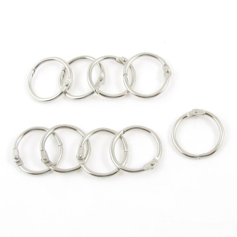 9 X Hinge Leaves Ring Paper Ring Diameter Key Ring