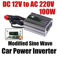 DC 12v to AC 220v USB charger modified sine wave car voltage transformer hot sale 100W car Power Inverter converter